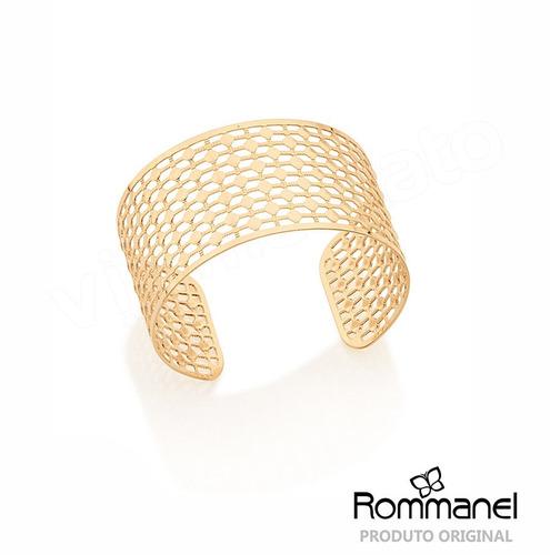 bracelete rommanel coleção ana hickmann folheado a ouro