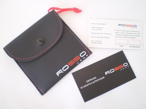 bracelete rosso de aço frete grátis r-150072-2 dayse brazil
