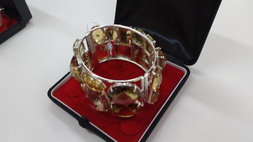 bracelete topázio na prata