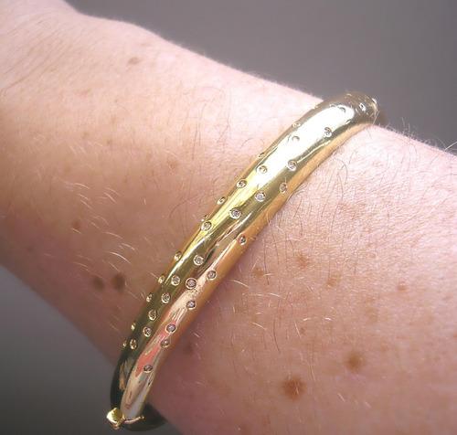 bracelete vivara coleção em ouro amarelo com  diamantes