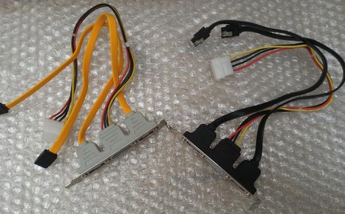 bracket slot 2 puertos e-sata + power 4 pin disco duro ssd