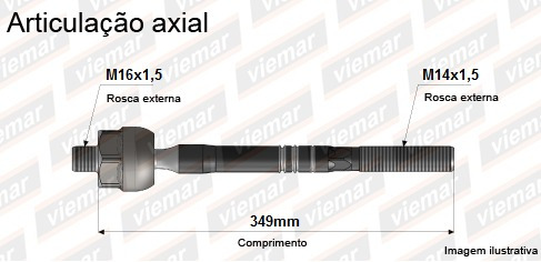braço axial articulado vectra / nubira - original viemar