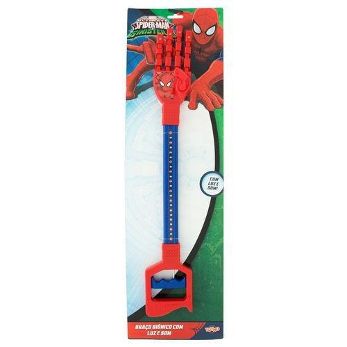braço bionico com luz e som homem aranha