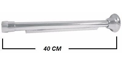 braço cano para ducha chuveiro 40 cm em metal cromado