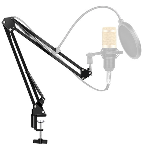 braço suporte pedestal de mesa articulado para microfones t8