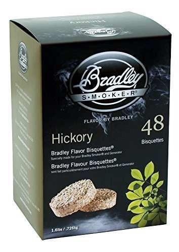 bradley hickory bisquettes 1.6lb 48 paquete