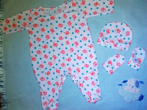 braga body cocoliso set con gorro y manoplas de bebé algodón