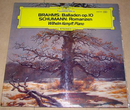 brahms: balladen op.10 schuman vinilo lp excelente