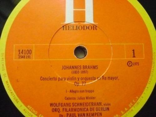 brahms /  concierto para violin y orq.  1 disco lp vinilo