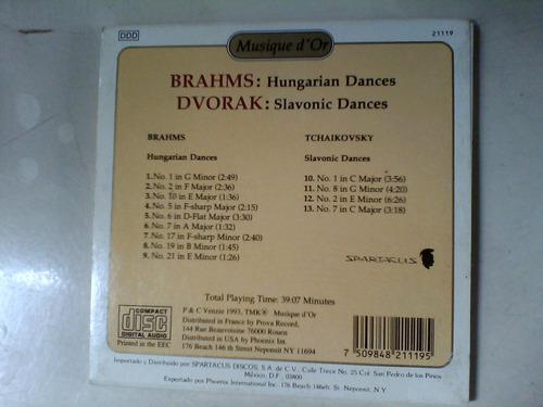 brahms dvorak cd de musica clasica   original danzas hungara