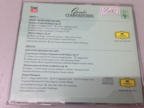 brahms - grandes compositores - cd duplo (1490)