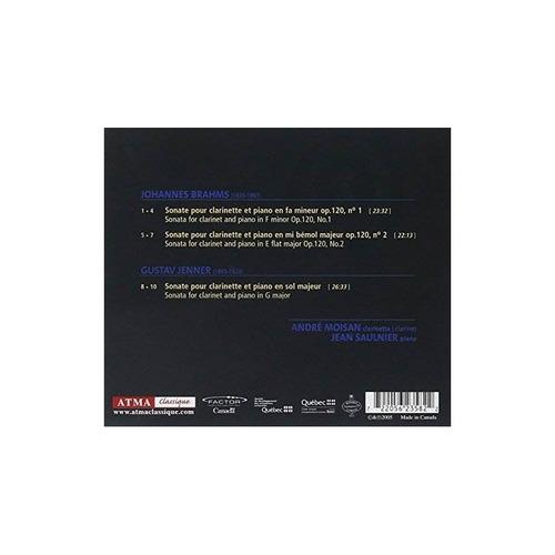 brahms / jenner clarinet sonatas usa import cd nuevo