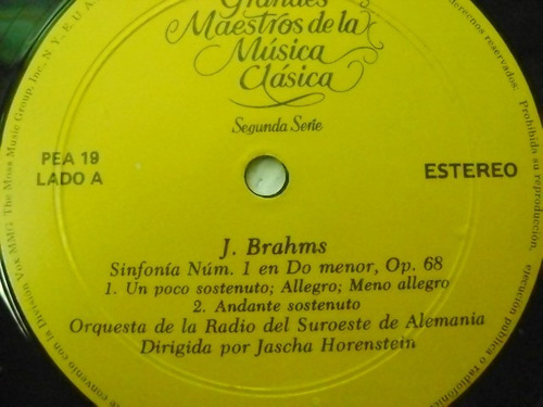 brahms / sinfonia n.-1  1 disco lp vinilo