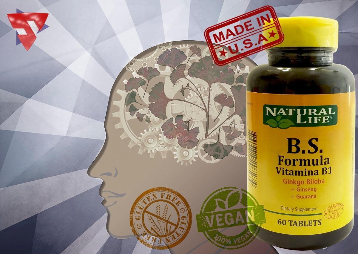 Brain Support Ginkgo Biloba Guaraná Ginseng X60 Natural Life