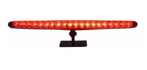 brake light luz d freio auxiliar  vermelho 20 leds 26cm 12v