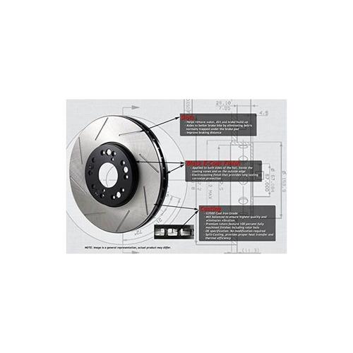 brakenetic premium slotted brake disc rotors bnp33073.ss [fr