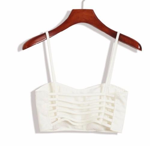 bralette crop top brasier blusas corpiño  con tiras moda 2
