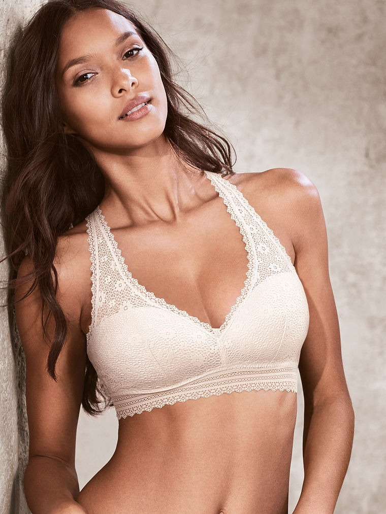 Bralette Top Blanco Encaje Lenceria Victoria s Secret Xs Vs -   799 ... 47b459d25767