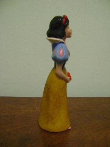 branca de neve disney floc - brinquedo antigo de borracha