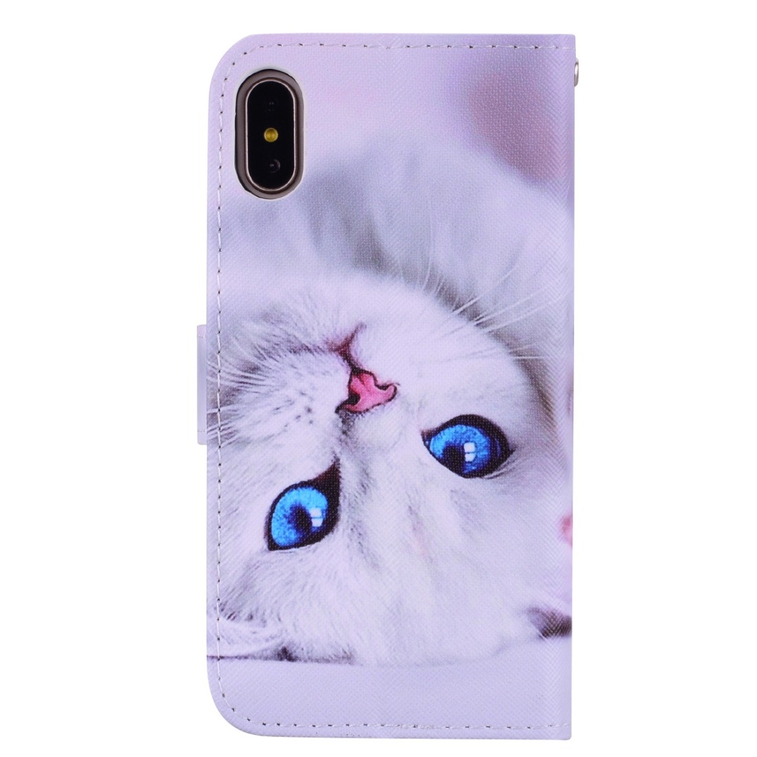 Branco Gato Padrao Colorido Desenho Horizontal Sacudidela C R