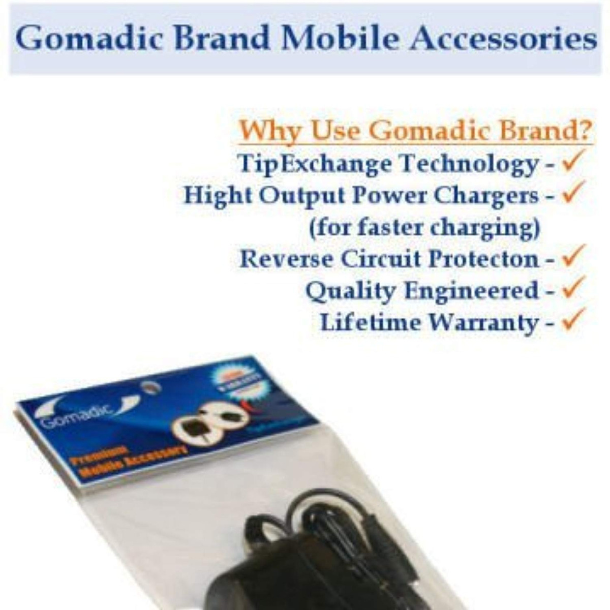 Gomadic Car and Wall Charger Essential Kit suitable for the Sony HDR-AS20 AS20 Includes both AC Wall and DC Car Charging Options with TipExchange