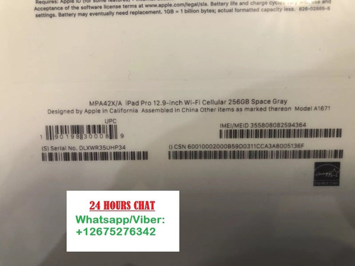 brand new sealed ipad pro 12.9 inch 256gb wifi nuevo sellado