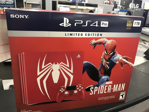 brand new sony playstation 4pro 1tb spiderman