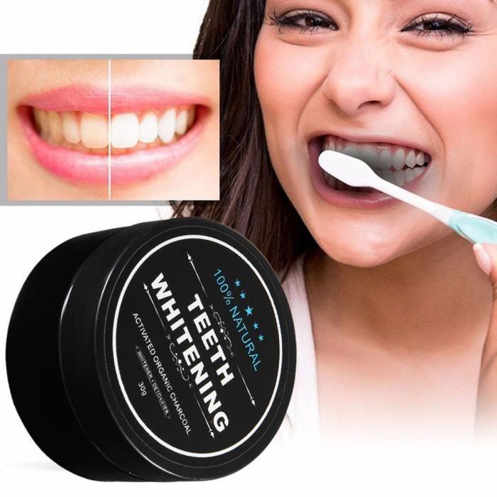 Branqueador Clareador Dental Carvao Ativado Em Po Natural R 24