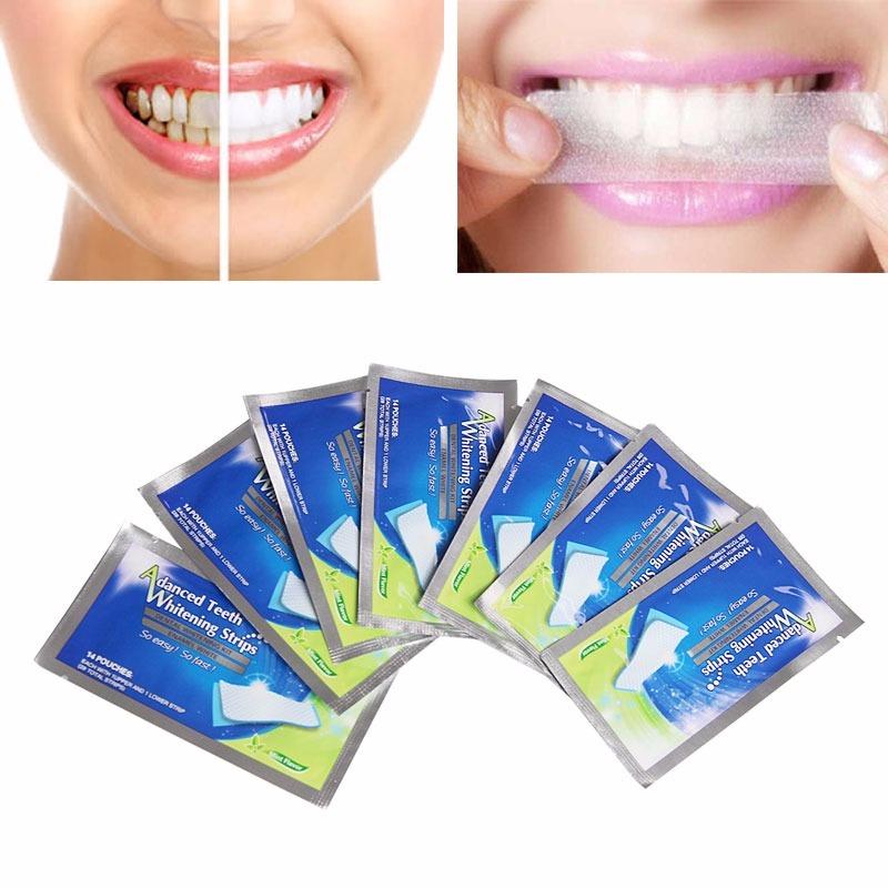 Branqueador Clareador Tiras Dental Fitas Clareamento Dentes R 19