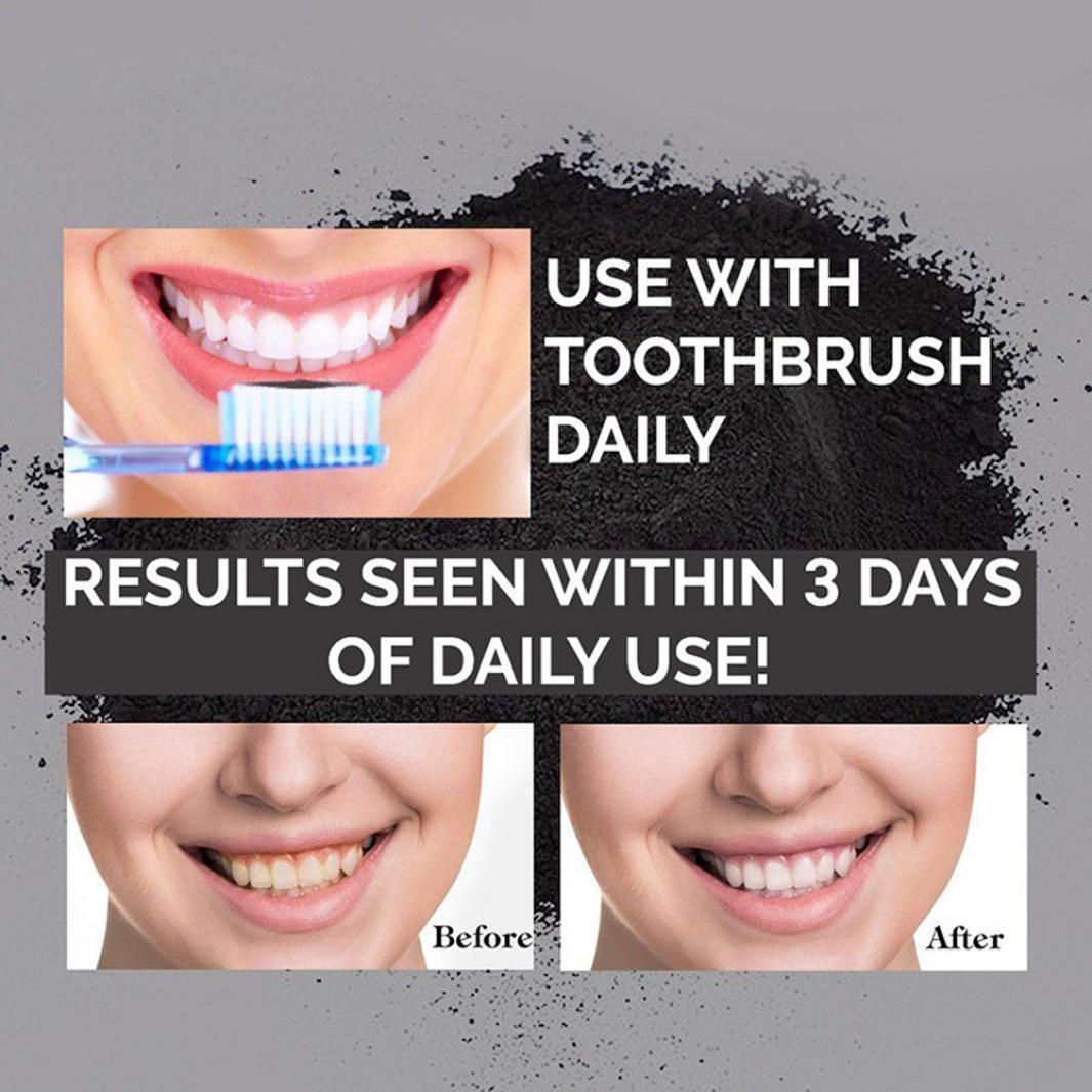 Branqueador Clareamento Dental Dentes Carvao Em Po Natural R 69