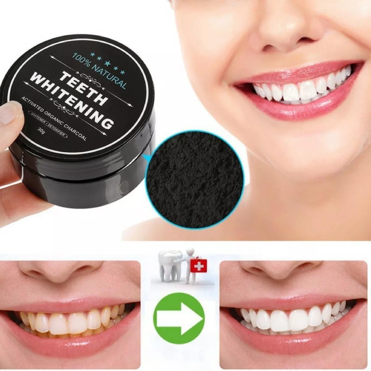 Branqueador Dentes Carvao Em Po Ativado Profissional Natural R 26