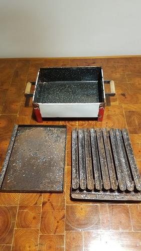 brasero de mesa antiguo enlozado ciurleo hnos villa urquiza