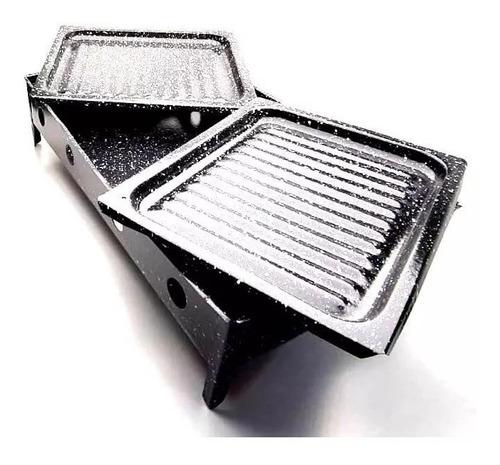 brasero de mesa doble enlozado   de regalo pinche choricero