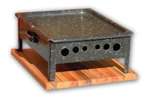 brasero de mesa enlozado c/ base - mod. pilcomayo prod. raíz