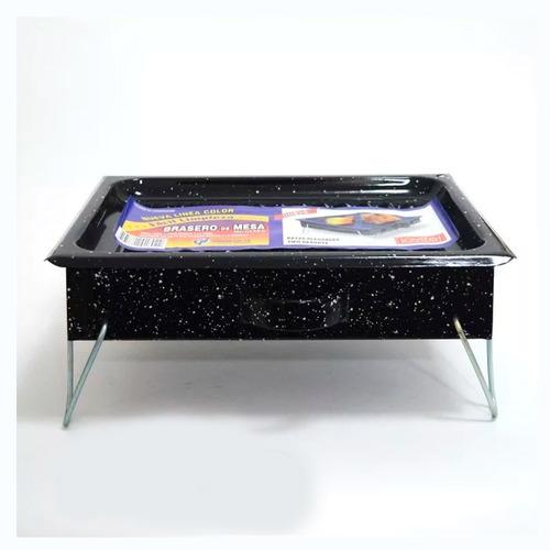 brasero de mesa enlozado c/patas plegables