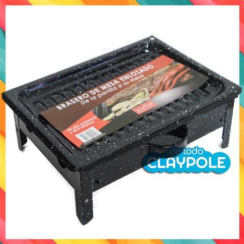 brasero de mesa enlozado - jovifel