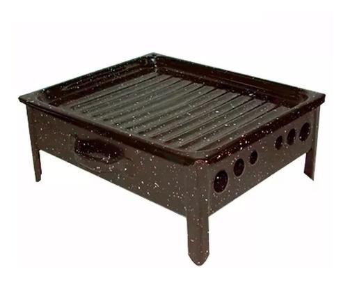 brasero de mesa enlozado jovifel para el asado y parrilla