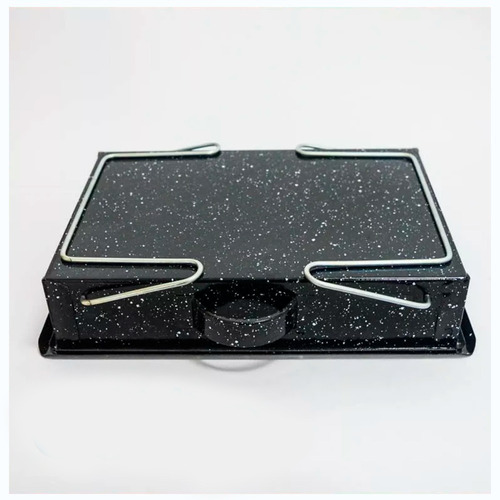 brasero de mesa plegables enlozado c/patas
