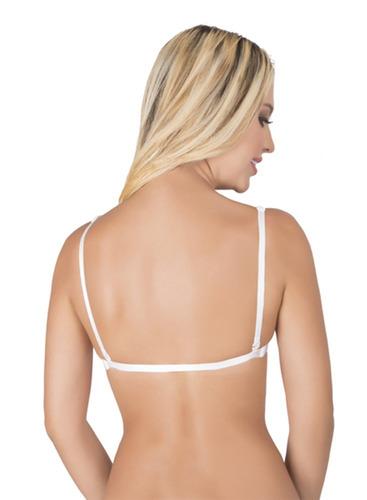brasier  adhesivo escote espalda con  cordón bra