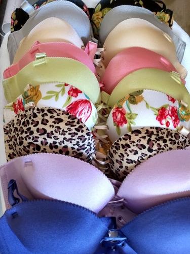 brasier push up lencería asiatica lote de 5 coordinados