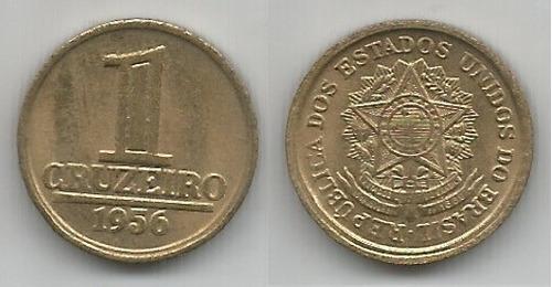 brasil 1 cruzeiro 1956 bronze-alumínio mbc