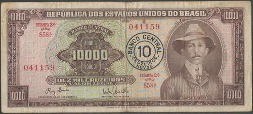 brasil 10 cruzeiros novos nd1967 p190a