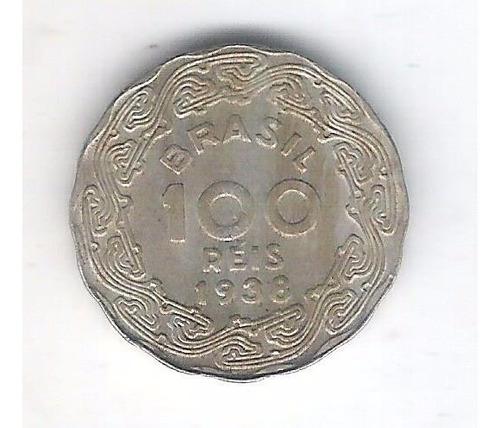 brasil 100 réis 1938 sob. cupro-níquel 12mm. getúlio vargas.