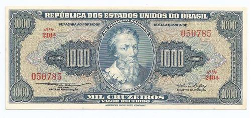 brasil 1000 cruzeiros c049 s/fe cédula - tchequito