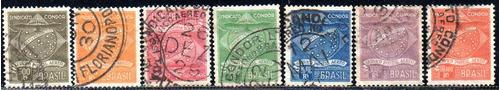 brasil 1927 - condor. a primeira série de 7 selos, carimbada