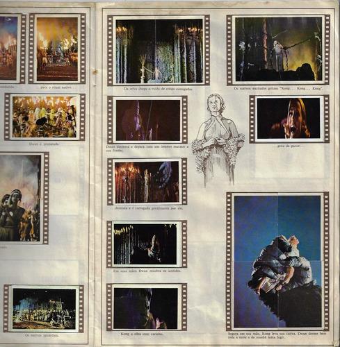 brasil 1976 álbum de figurinhas king kong editora saravan