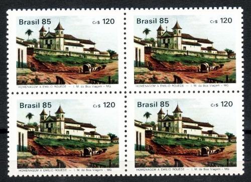 brasil 1985 * quadra * e rouéde * igreja n s boa viagem mg