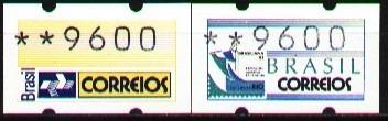 brasil 1993 - brasiliana 93 semi-autômatos cristo e logo ect