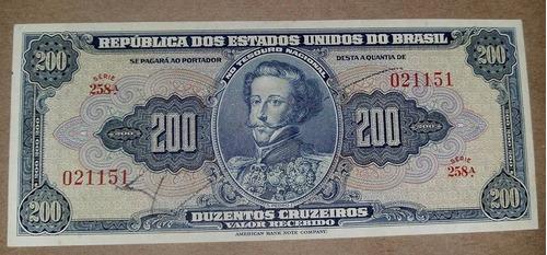 brasil 200 cruzeiros c037 fe cédula autografada