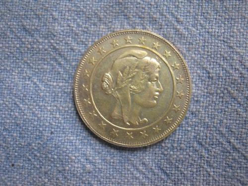 brasil 2000 reis 1934 de plata